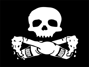 drunken pirate flag