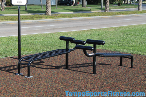 Inclined Crunch Bench Exercise Equipment